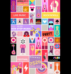 rock concert poster template vector image