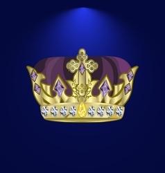 Tiara with precious stones 4 vector