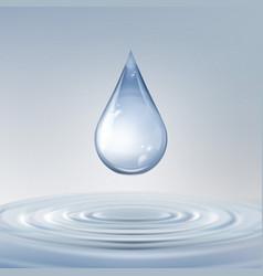 shiny water drop vector image