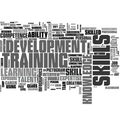 skills word cloud concept vector image vector image