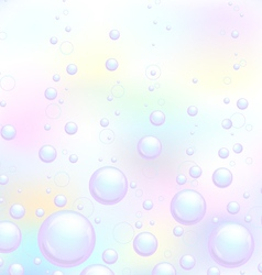 Soap bubbles background vector image
