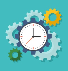 Time management concept Flat design stylish vector image vector image