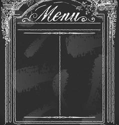 Vintage Blackboard for Restaurant Menu vector image vector image