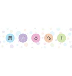 5 urban icons vector