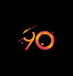 90 years anniversary celebration gradient number vector