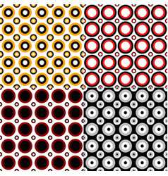 Abstract circle pattern background design set vector