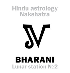 Astrology lunar station bharani nakshatra vector