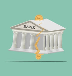 Bank broken vector