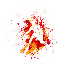Basketball player blots vector