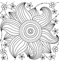 Big flower pattern coloring vector image