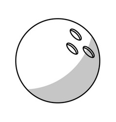 Bowling ball equipment - shadow vector