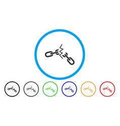 Broken chain rounded icon vector