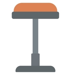 Brown bar stool vector