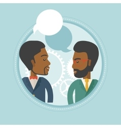 Businessmen discussing business plan vector image