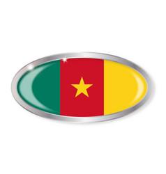 Cameroon flag oval button vector