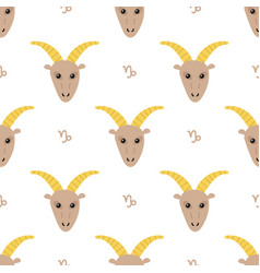 capricorn zodiac sign seamless pattern vector image