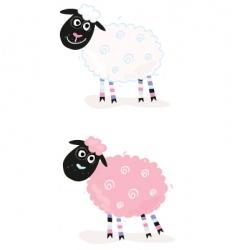 Cartoon sheep vector