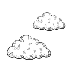Cloud engraving style vector