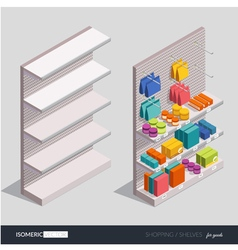 Design elements on shopping theme vector image