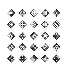 Diamond shape geometric icon ornament vector