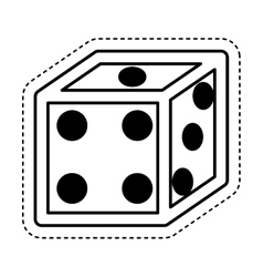 Dice game isolated icon vector