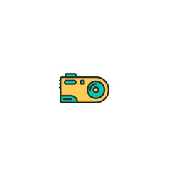 digital camera icon design photography and video vector image