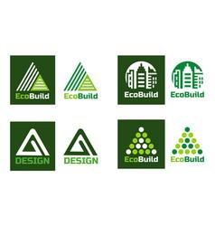eco design real estate logo home building logo vector image