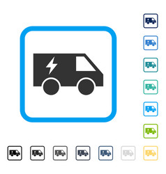 electric power car framed icon vector image