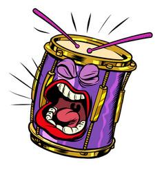 emoji character emotion drum musical instrument vector image