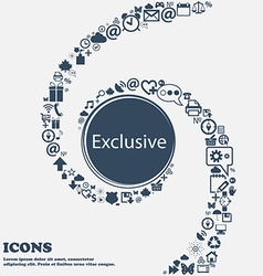 Exclusive sign icon Special offer symbol in the vector