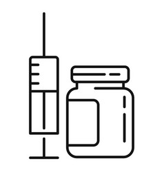 Face beautician syringe icon outline style vector
