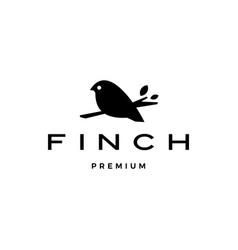 Finch bird logo icon vector