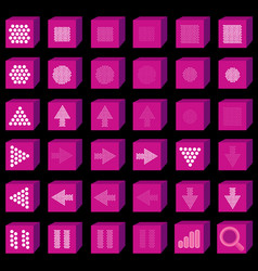 flat multimedia icons music and sound button set vector image