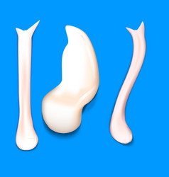 Flowing down white cream or yoghurt icing drops vector
