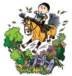 Funny pony riding vector