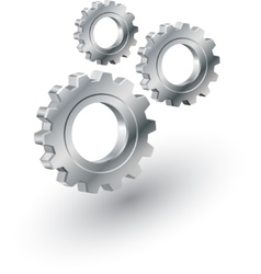 Gears sign vector image