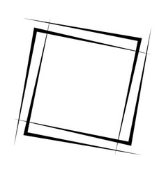 geometric abstract square element intersecting vector image