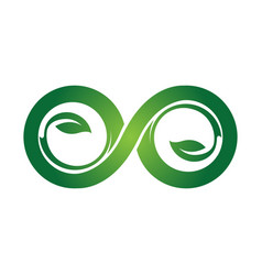 green eco infinity symbol icons unlimited vector image