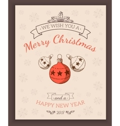 Greeting text and sketch decorations vector image