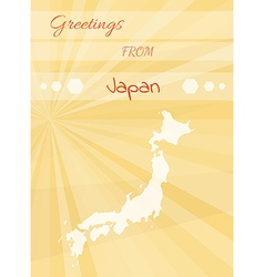 greetings from japan vector image