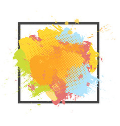 Grunge abstract paint brush colorful background vector