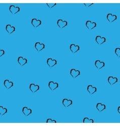 Heart chaotic seamless pattern vector