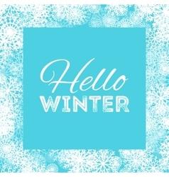 Hello winter abstract background design vector