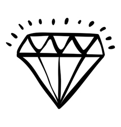 Isolated diamond draw design vector