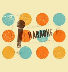 karaoke typographic stencil spray grunge poster vector image