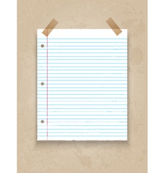 lined paper on grunge background 1206 vector image