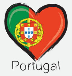 Love Portugal flag vector