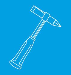 Metal welder pliers icon outline vector