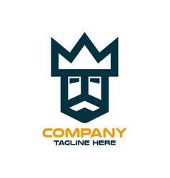 modern simple logo kings head vector image