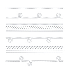 nautical or climbing rope thin and thick vector image